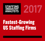 SIA Fastest Growing Staffing 2017