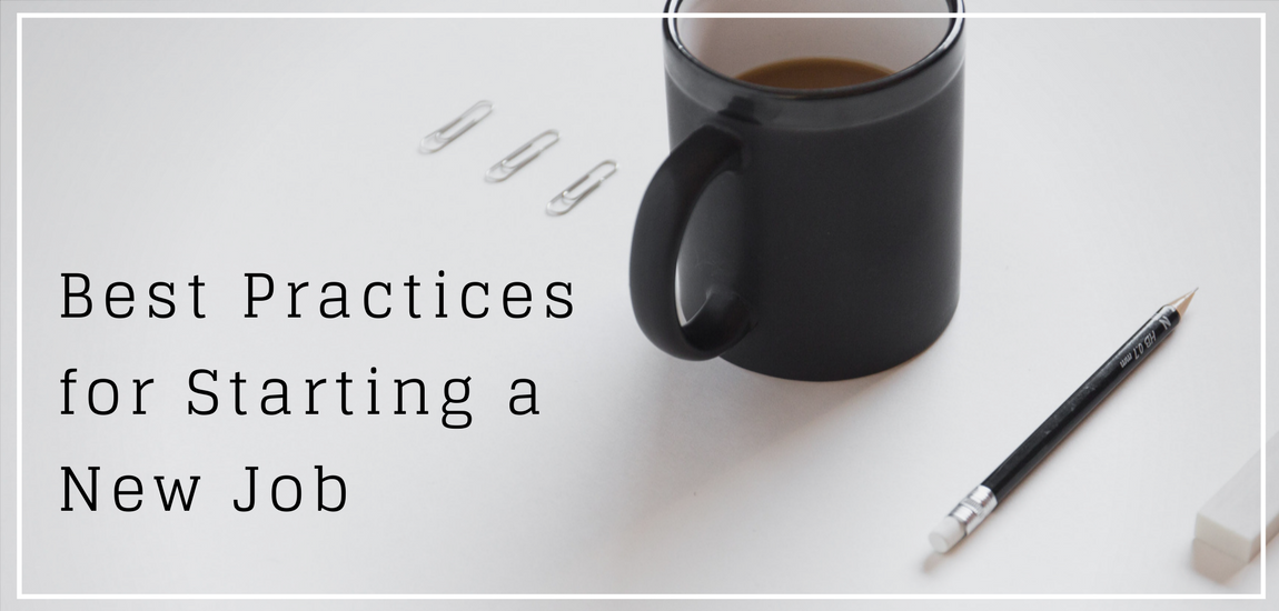 Best Practices for Starting a New Job