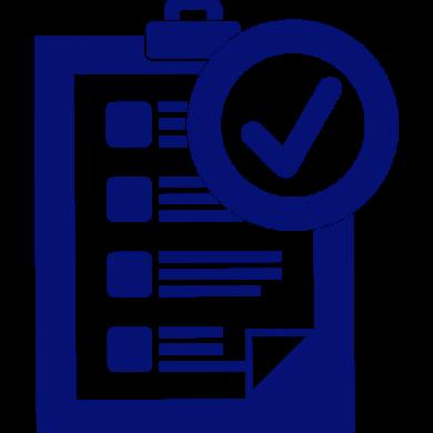 blue clipboard checklist graphic