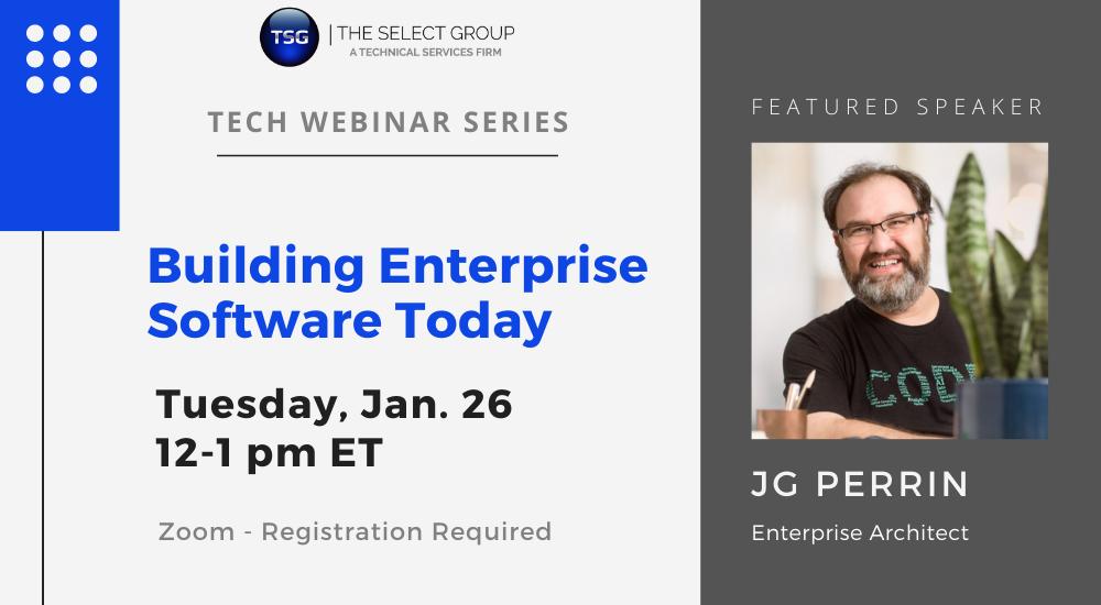 JG Perrin - Building Enterprise Software Today